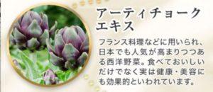 ネーヴェクレマの成分〜アーティチョークエキス