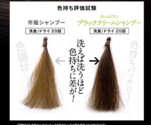 クレムドアン黒髪シャンプーの効果